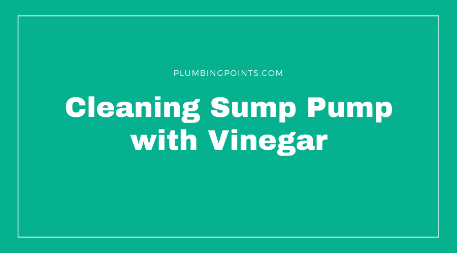 Cleaning Sump Pump with Vinegar