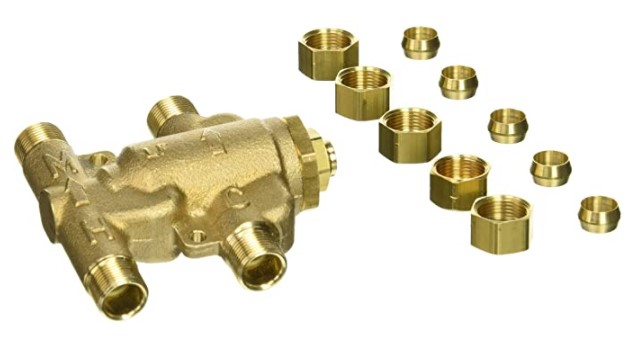 Watts 0204143 USG-B-M2 Under Sink Guardian Thermostatic Mixing Valve, 8 Inches, Brass