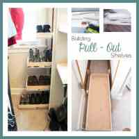 Shoe Closet ~ Building Pullout Shelves! ~- Designed Decor