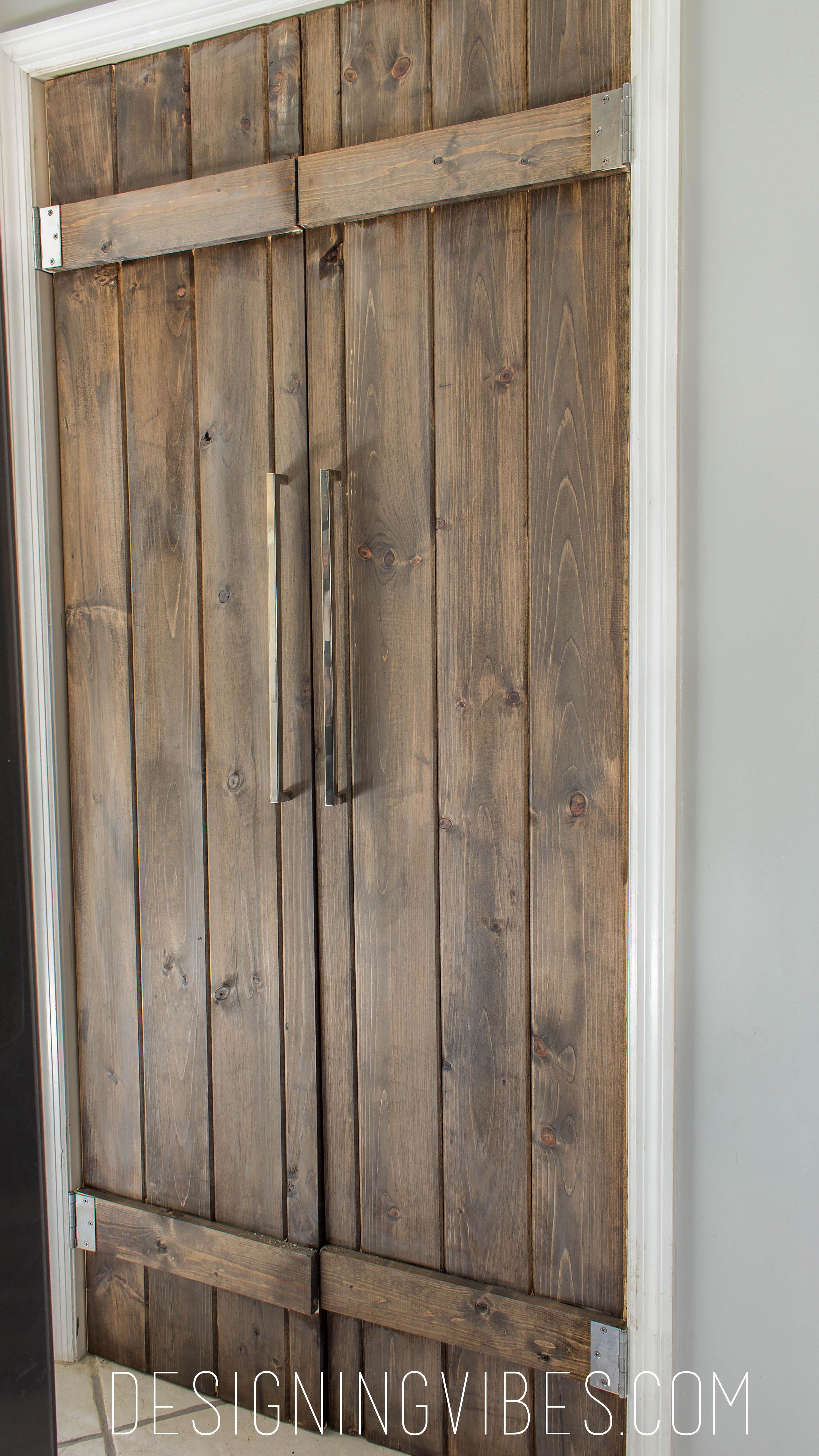 Double Pantry Barn Door DIY