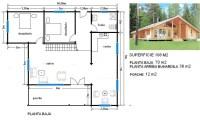 Plano de casa de 108 m
