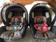 Newborn Twins In Car Seat 19563 | USBDATA