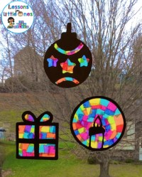 Christmas Silhouette Window Decorations - Lessons for ...
