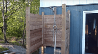 Building a Rustic Outdoor Shower for Informal Camp Life ...