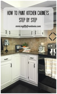DIY: How I Painted My Kitchen Cabinets | My Life From Home