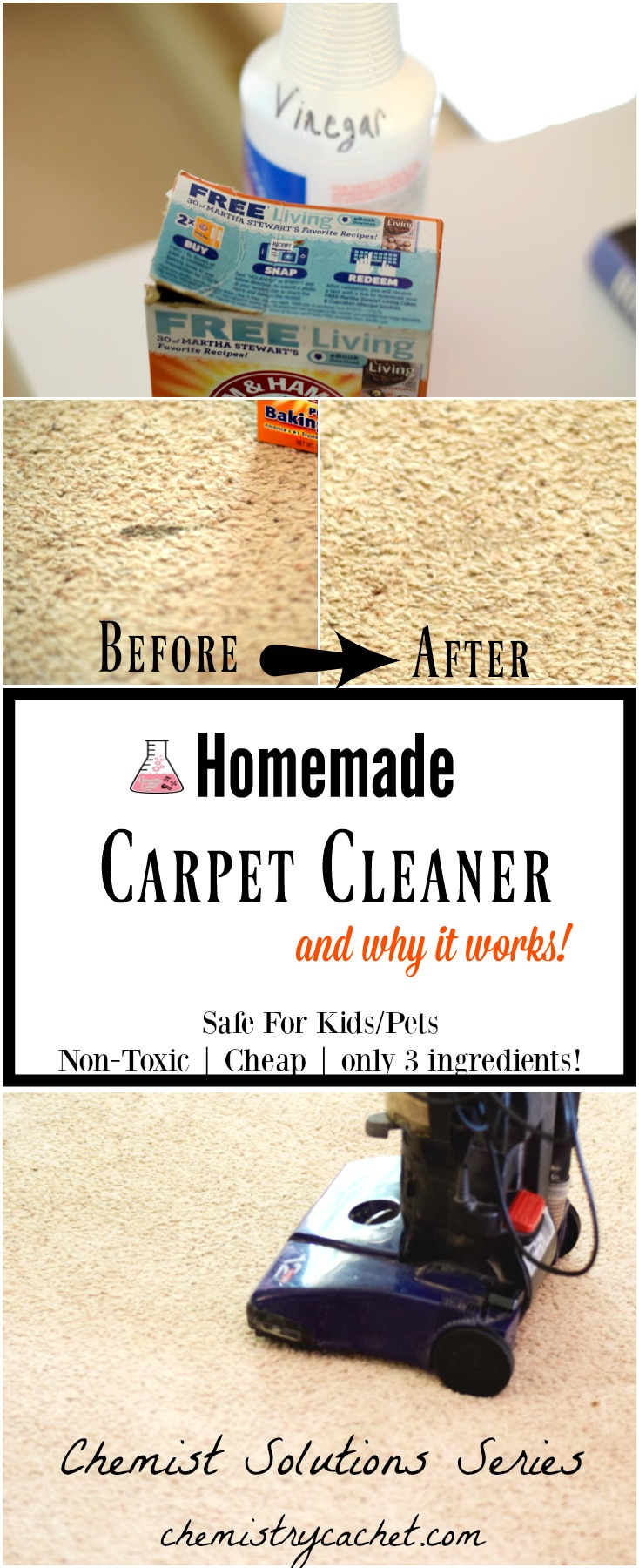 Easy Homemade Carpet Cleaner (Only 3 Ingredients)