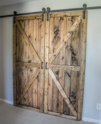 DIY Sliding Double Barn Doors - Reclaimed Wood ...