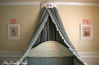 DIY Bed Crown and Crib Canopy Tutorial | My Love of Style ...