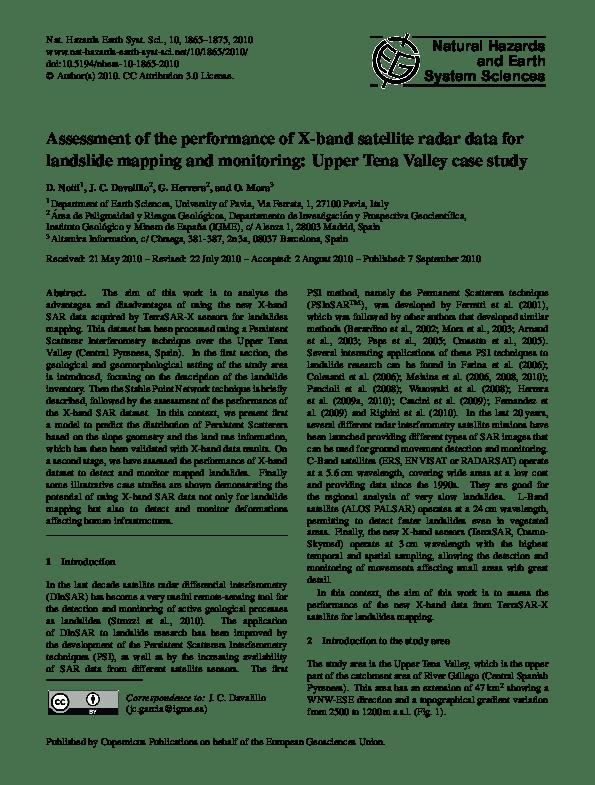 Pdf Assessment Of The Performance Of X Band Satellite Radar