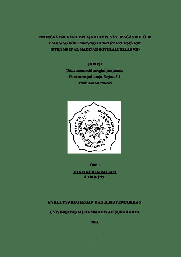 Contoh Proposal Skripsi Pendidikan Matematika Ptk Kumpulan Berbagai Skripsi Cute766