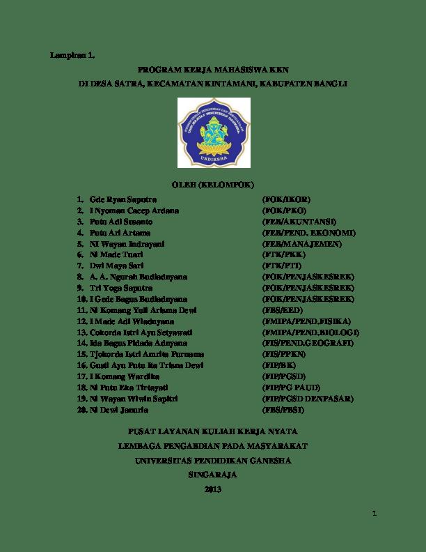 Pbsi Singkatan Dari : singkatan, Program, Kerja, Kelompok, IMade, Wiadnyana, Academia.edu
