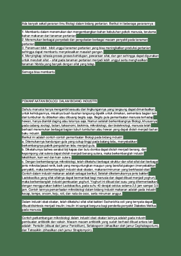 Peranan Biologi Dalam Berbagai Bidang : peranan, biologi, dalam, berbagai, bidang, Peranan, Biologi, Dalam, Bidang, Pertanian, Cute766