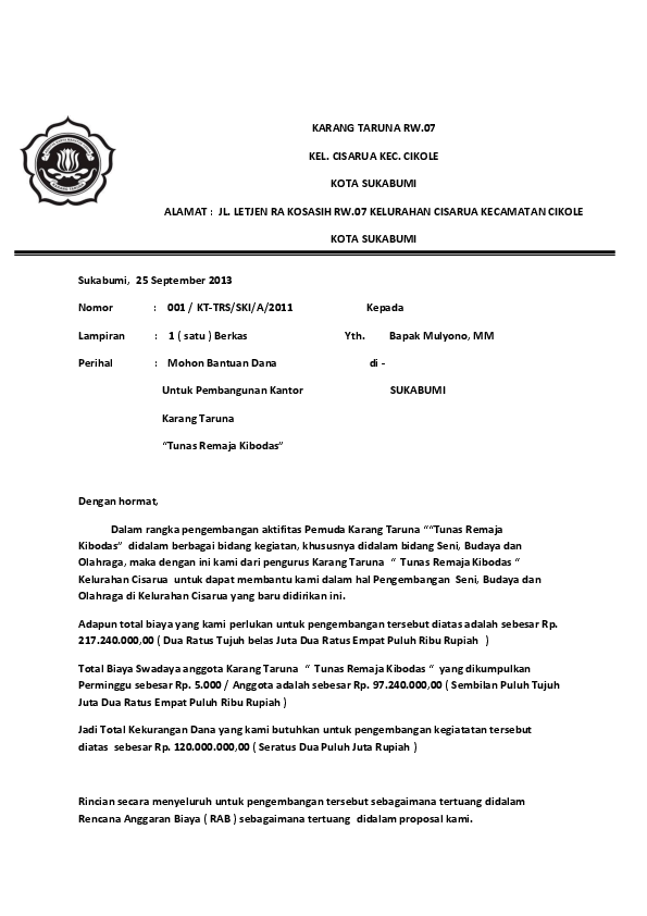 Proposal Karang Taruna : proposal, karang, taruna, Proposal, Permohonan, Karang, Taruna, Fathulhijri, Academia.edu