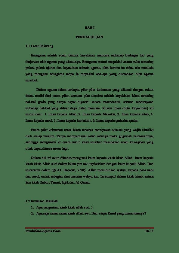 Arti Kitab Zabur : kitab, zabur, Makalah, Agama, Islam, Likha, Alayya, Academia.edu