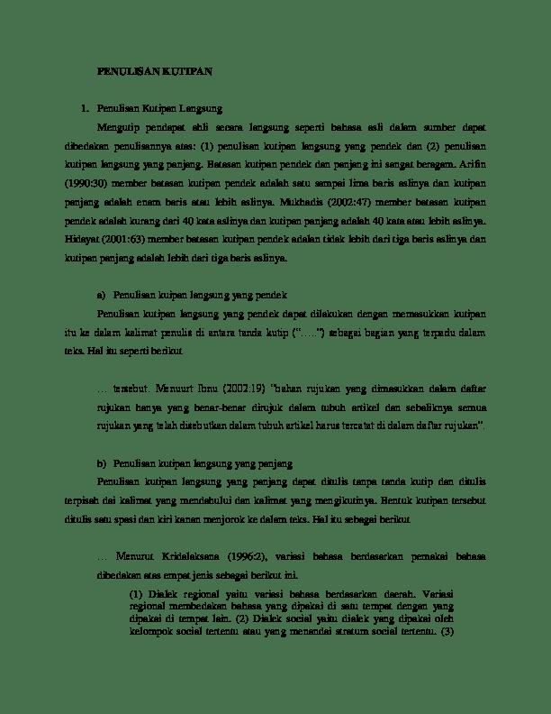 Kutipan Dari Jurnal : kutipan, jurnal, Menulis, Kutipan, Jurnal, Untuk, Skripsi, Kumpulan, Cute766
