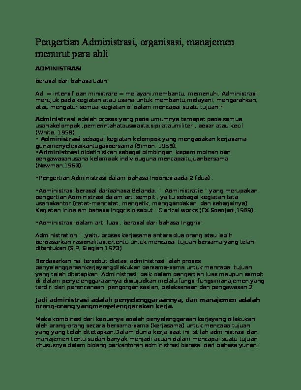 Administrasi Berasal Dari Bahasa : administrasi, berasal, bahasa, Pengertian, Administrasi, FERRY, DERMAWAN, Academia.edu