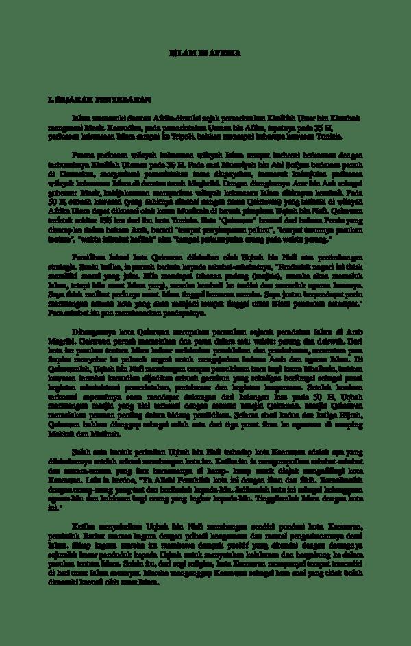Sejarah Perkembangan Islam Di Afrika : sejarah, perkembangan, islam, afrika, Islam, Afrikaa, Tokax, Academia.edu
