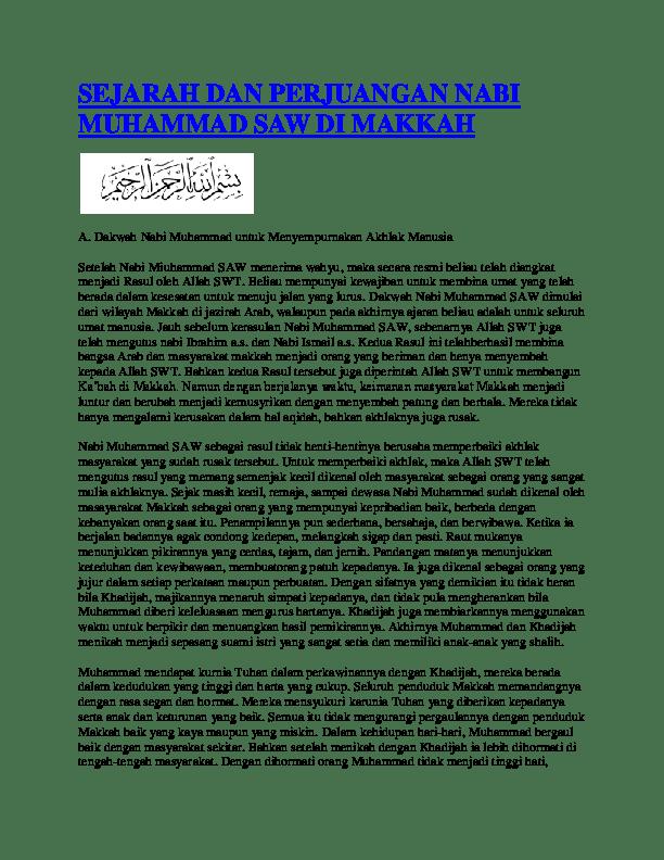 Sejarah Perjuangan Nabi Muhammad Saw Periode Madinah : sejarah, perjuangan, muhammad, periode, madinah, SEJARAH, PERJUANGAN, RASULULLAH, Kembar, Academia.edu