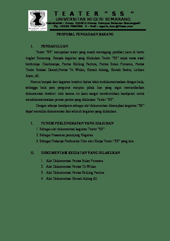 Contoh Proposal Pengajuan Barang : contoh, proposal, pengajuan, barang, Contoh, Proposal, Pengajuan, Barang, Pendidikan