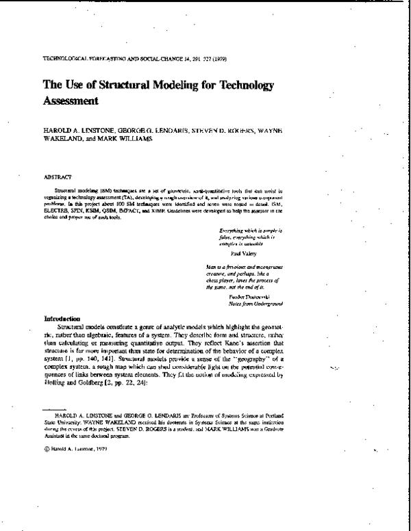 Mini Models Links : models, links, Structural, Modeling, Technology, Assessment, Wayne, Wakeland, Academia.edu