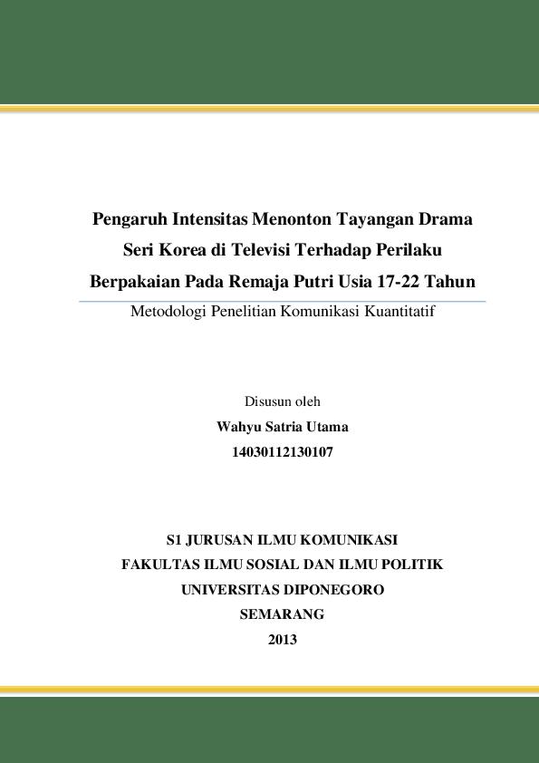 (PDF) Proposal Kuantitatif JAMALUDIN (1710111210009)