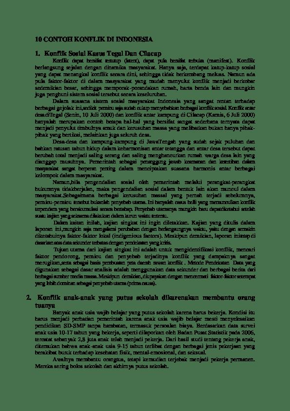 Contoh Konflik Beserta Gambarnya : contoh, konflik, beserta, gambarnya, CONTOH, KONFLIK, INDONESIA, Waldi, Rahman, Academia.edu