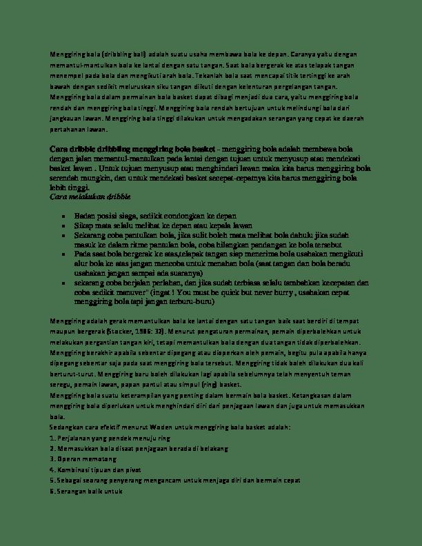 Kegunaan Menggiring Bola : kegunaan, menggiring, Menggiring, Derosary, MiLanisti, Academia.edu