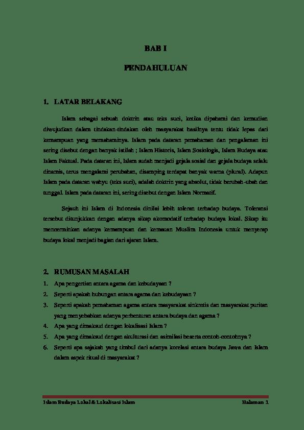 Contoh Budaya Islam : contoh, budaya, islam, Islam, Budaya, Lokal, Lokalisasi, Muzaki, Academia.edu