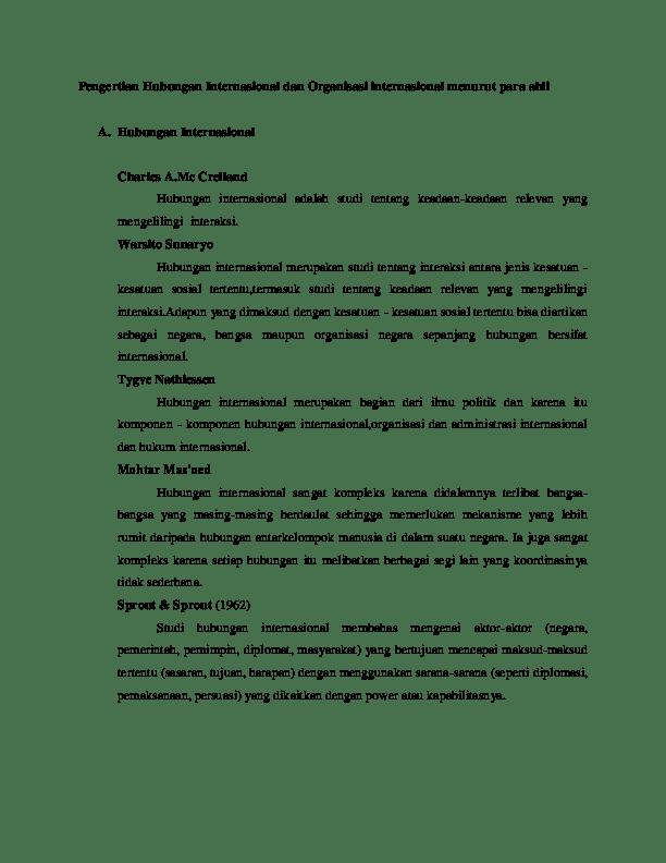 Definisi Hubungan Internasional Menurut Para Ahli : definisi, hubungan, internasional, menurut, Pengertian, Hubungan, Internasional, Organisasi, Menurut, Gembala, Academia.edu