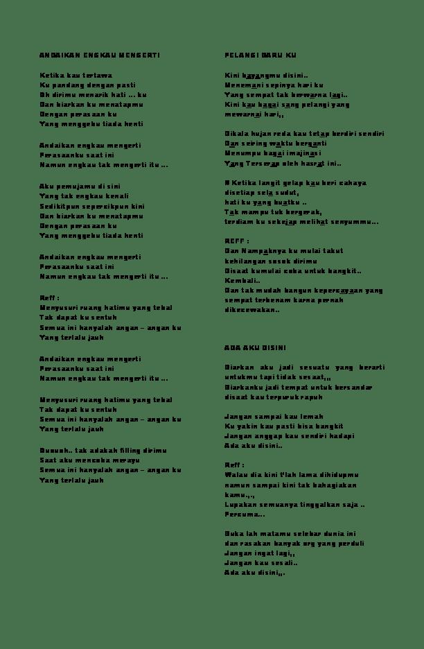 Chord Kunci Gitar Perasaanku Adista Band Lirik Lagu