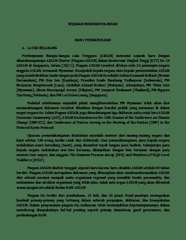 Pertemuan Para Kepala Pemerintahan Dalam Organisasi Asean Disebut : pertemuan, kepala, pemerintahan, dalam, organisasi, asean, disebut, SEJARAH, BERDIRINYA, ASEAN, Yusriadi, Geografi, Academia.edu
