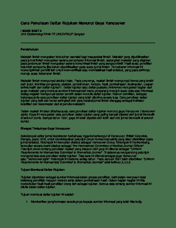 Cara Menulis Daftar Pustaka Dari Web Internet : menulis, daftar, pustaka, internet, Penulisan, Daftar, Rujukan, Menurut, Vancuover, Wanderer, Academia.edu