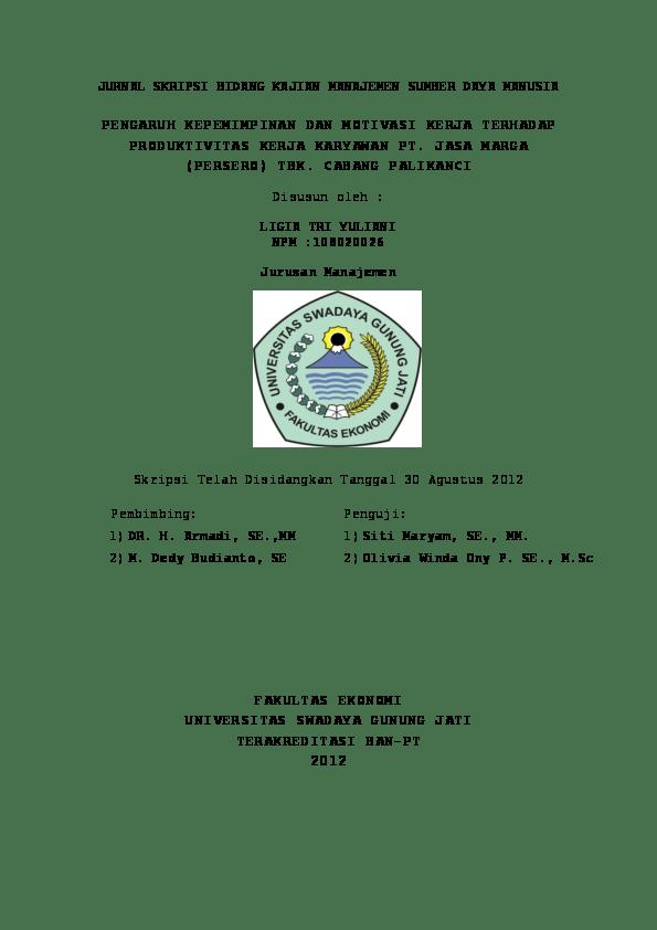Contoh Proposal Penelitian Msdm Pdf