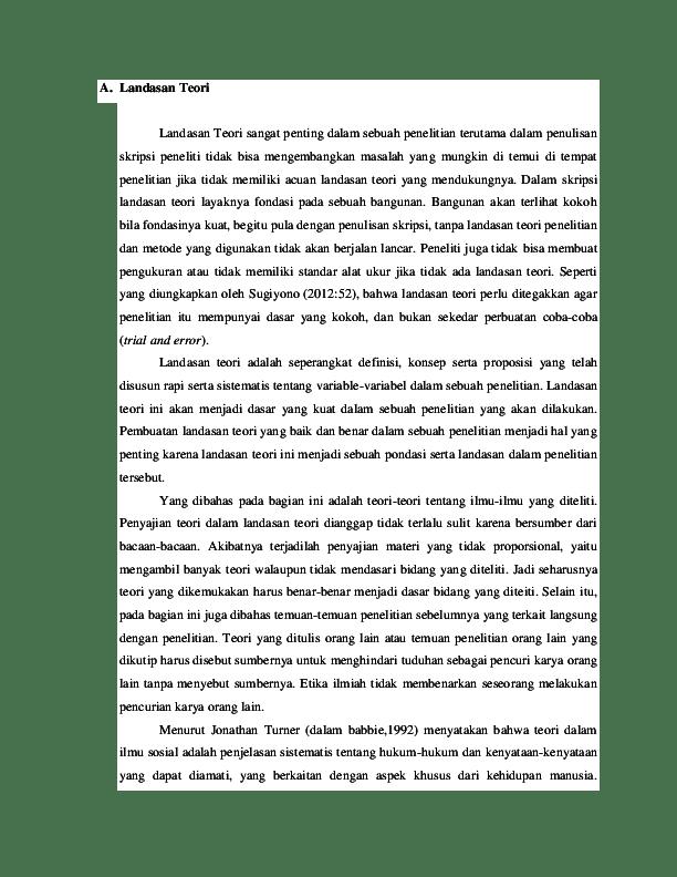 Contoh Grand Teori Dalam Skripsi : contoh, grand, teori, dalam, skripsi, Landasan, Teori, Saqib, Labiqotin, Academia.edu