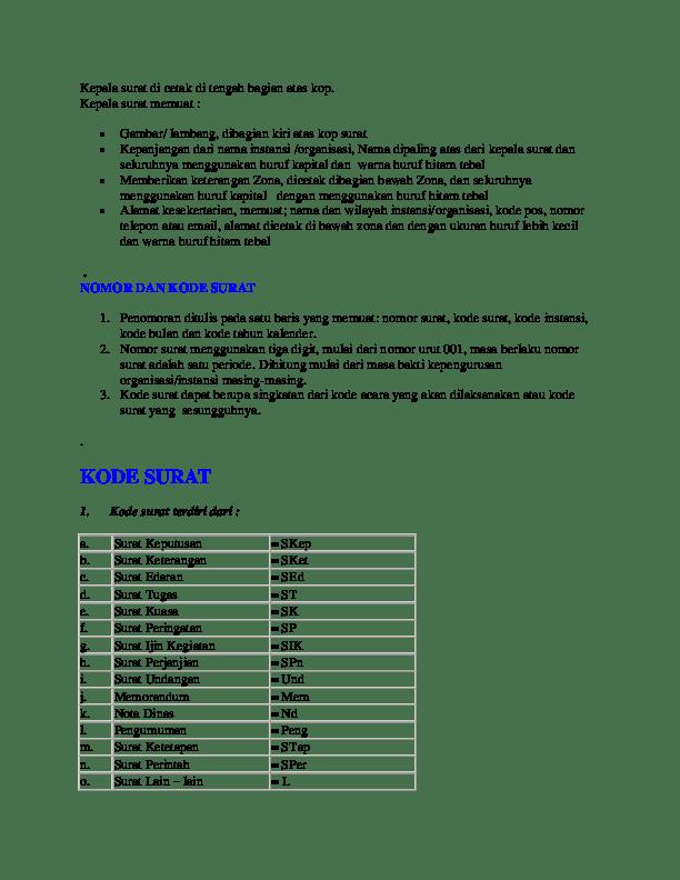 Membuat Nomor Surat : membuat, nomor, surat, PENOMORAN, SURAT, Academia.edu