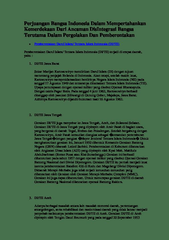 Latar Belakang Di/tii Jawa Tengah : latar, belakang, di/tii, tengah, Perjuangan, Kemudian, Diangkat, Sebagai, Komandan, Pertemburan, Tengah, Dengan, Pangkat, Verisca, Academia.edu
