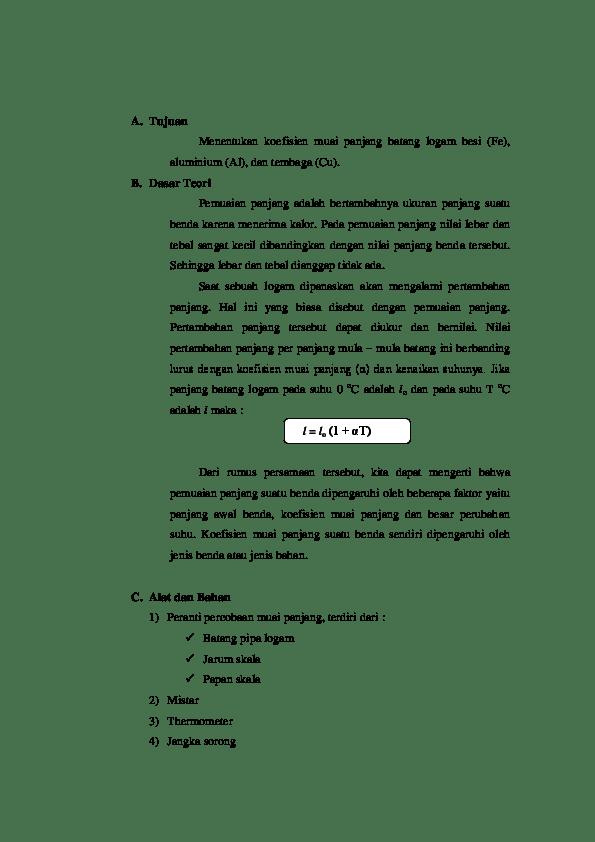 Rumus Koefisien Muai Panjang : rumus, koefisien, panjang, Dasar, Teori-koefisien, Panjang, Imamah, Academia.edu