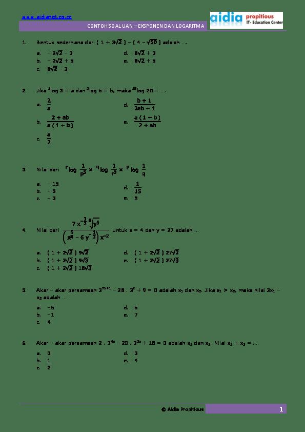 Contoh Soal Eksponen Kelas 10 Dan Pembahasannya : contoh, eksponen, kelas, pembahasannya, Contoh, Eksponen, Kelas, Pembahasannya, Kumpulan, Pelajaran