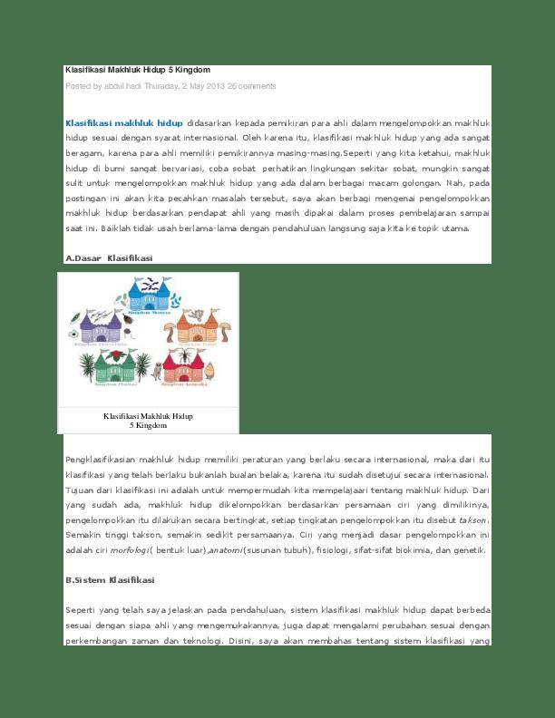 Klasifikasi Makhluk Hidup 5 Kingdom : klasifikasi, makhluk, hidup, kingdom, Klasifikasi, Makhluk, Hidup, Kingdom, Posted, Faizal, Academia.edu