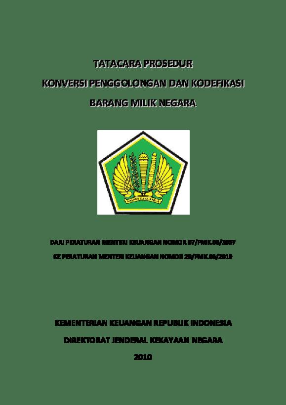 Pdf Sop Konversi Bmn Sinrod 692 Academia Edu
