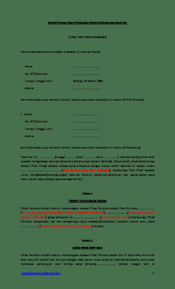 PDF Hukum Kontrak Bisnis - USU OpenCourseWare