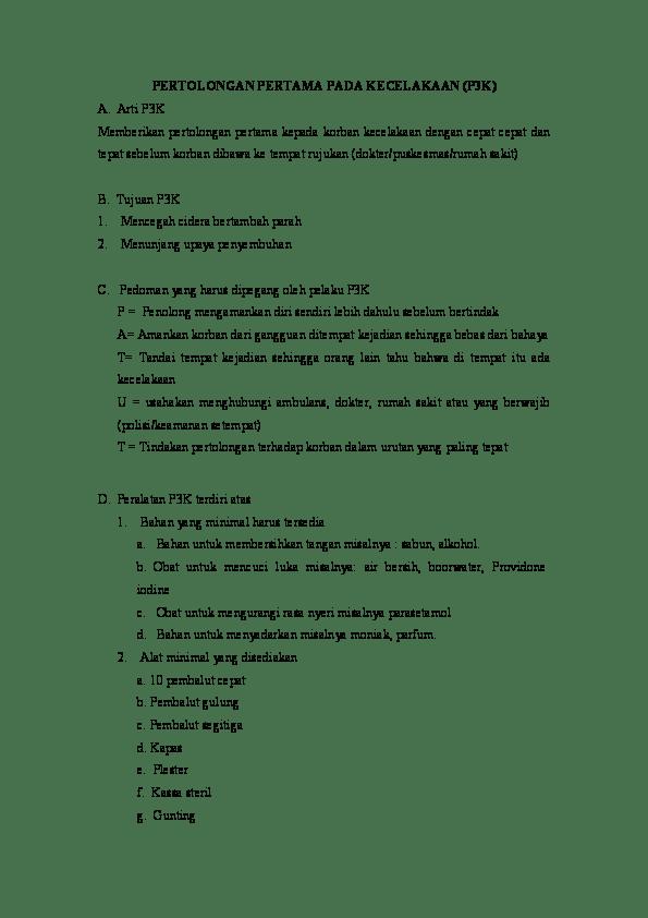 Sebutkan Tujuan Pertolongan Pertama Pada Kecelakaan : sebutkan, tujuan, pertolongan, pertama, kecelakaan, Sebutkan, Tujuan, Pertolongan, Pertama, Kecelakaan