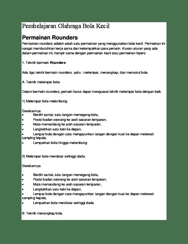 Cara Bermain Rounders (Halaman 150) - Heart.id