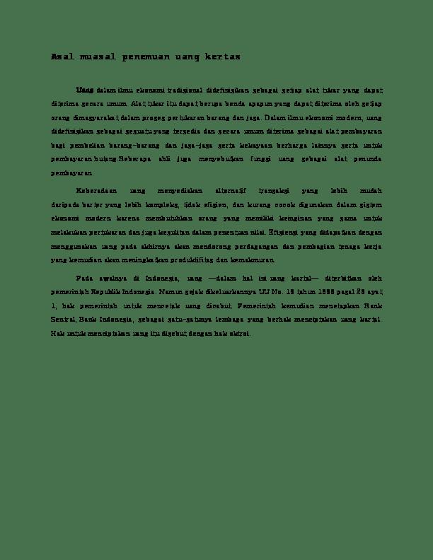 Hak Oktroi Bank Indonesia : oktroi, indonesia, State, University, Languages, Philosophy, Speech, Communication, Academia.edu