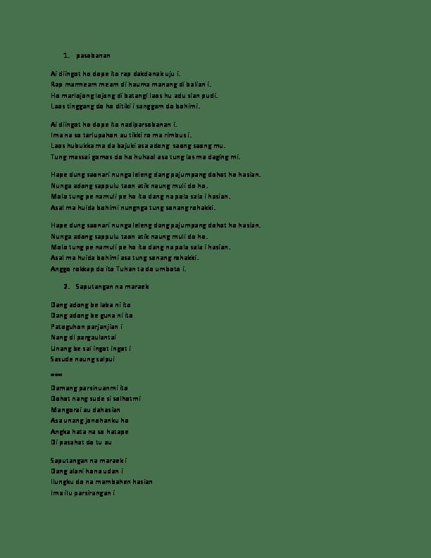 Lirik Patik Palimahon : lirik, patik, palimahon, Batak, Daniel, Manullang, Academia.edu