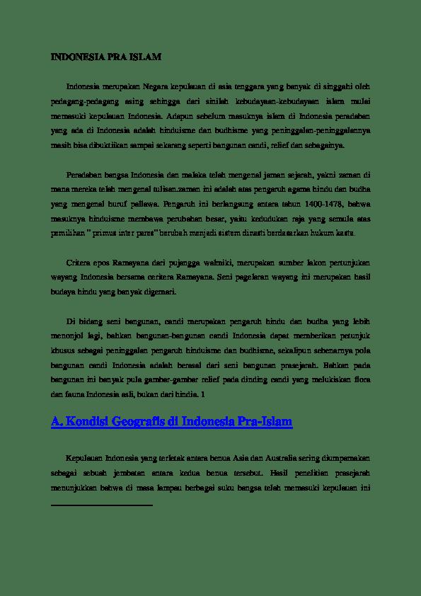 Sistem Kepercayaan Yang Berkembang Di Indonesia Sebelum Datangnya Agama Hindu Dan Buddha Adalah : sistem, kepercayaan, berkembang, indonesia, sebelum, datangnya, agama, hindu, buddha, adalah, INDONESIA, ISLAM, Elfarisy, Academia.edu