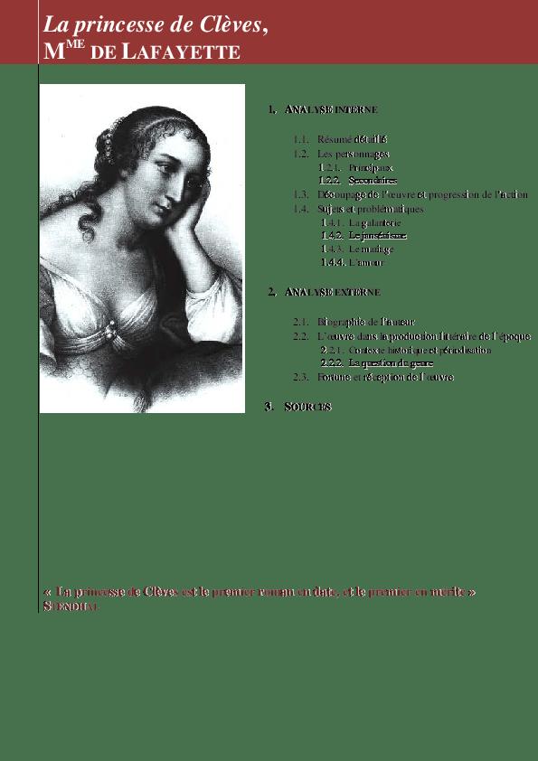 La Princesse De Clèves Résumé Détaillé : princesse, clèves, résumé, détaillé, LAFAYETTE, Princesse, Clèves