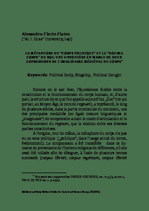 Les Deux Corps Du Roi Pdf : corps, Metaphore, Corps, Politique, Double, Alexandru-Florin, Platon, Academia.edu