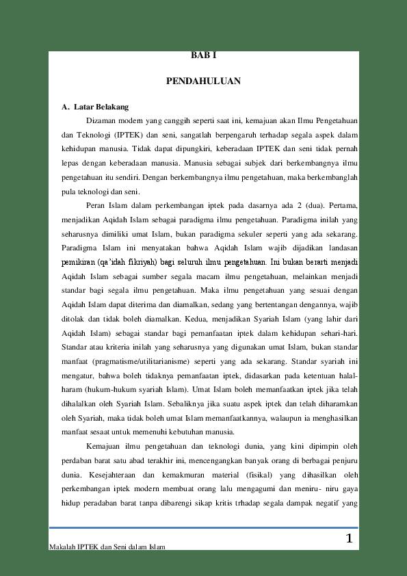 (DOC) iptek dan seni dalam islam | Aoula Isneni - Academia.edu