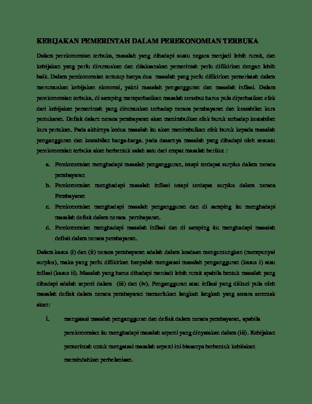 Sebutkan 4 Kebijakan Pemerintah Untuk Mendorong Ekspor : sebutkan, kebijakan, pemerintah, untuk, mendorong, ekspor, KEBIJAKAN, PEMERINTAH, DALAM, PEREKONOMIAN, TERBUKA, Farah, Nahdzia, Academia.edu